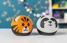 Die Echo Dot Kids Edition kommt in Tiger- oder Panda-Optik